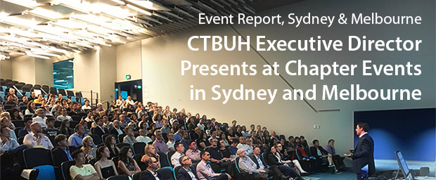 CTBUH Executive Director Presents at Chapter Events in Australia